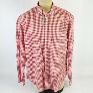 J.Crew Light Weight Red Checkered Button Down